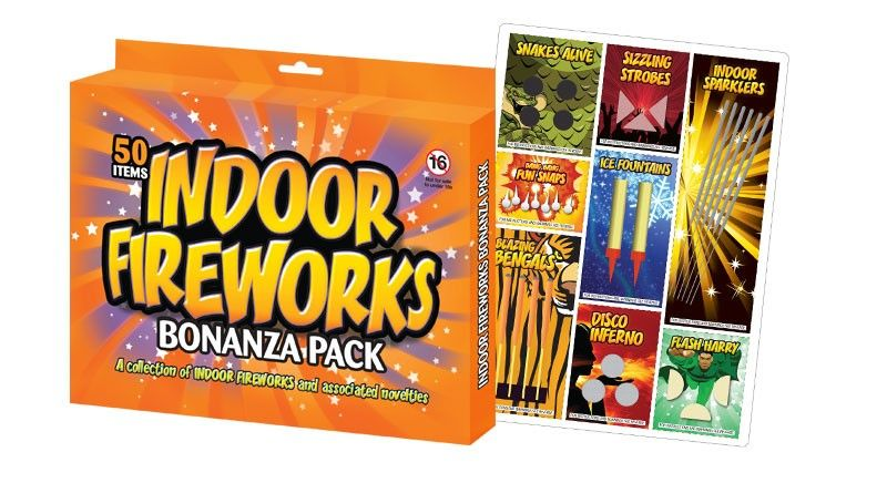Indoor Fireworks Bonanza Pack of 50