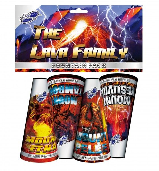 The Lava Family Pack of 4 Fountains